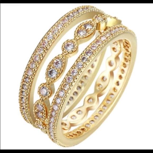 Jewelry New Yellow Gold Wedding Ring Set 3 Piece Poshmark